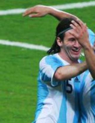 Меси бележи за победата на Аржентина