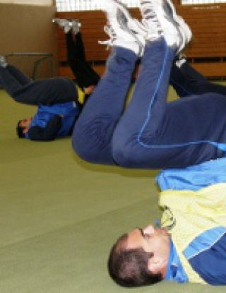 Черноморец Бургас загря във фитнес зала за мача с Щутгарт