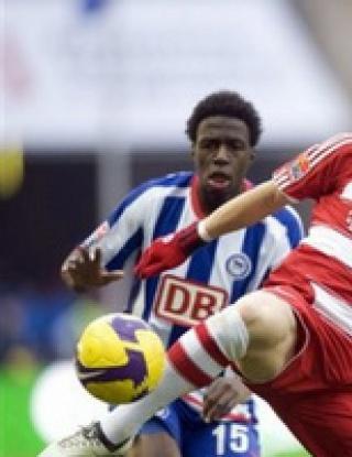 Два гола на Воронин качиха Херта на върха в Бундеслигата