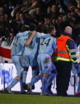 УЕФА Къп: Олборг - Манчестър Сити - 2:0 и 3:4 след дузпи (видео)