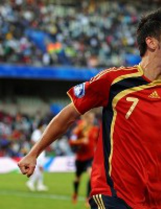 Давид Вия донесе победата на Испания над Ирак