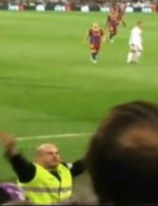 """Меси """"разстреля"""" част от феновете на Реал (видео)"""
