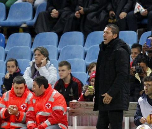 Симеоне недоволен от представянето на Атлетико срещу Академика