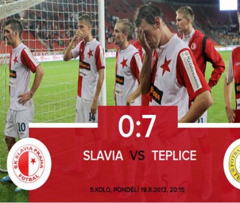 """Теплице унижи Славия на """"Еден Арена"""" със 7:0 (видео)"""