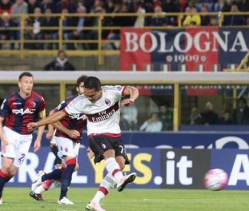 Болоня - Милан 0:1 (видео)