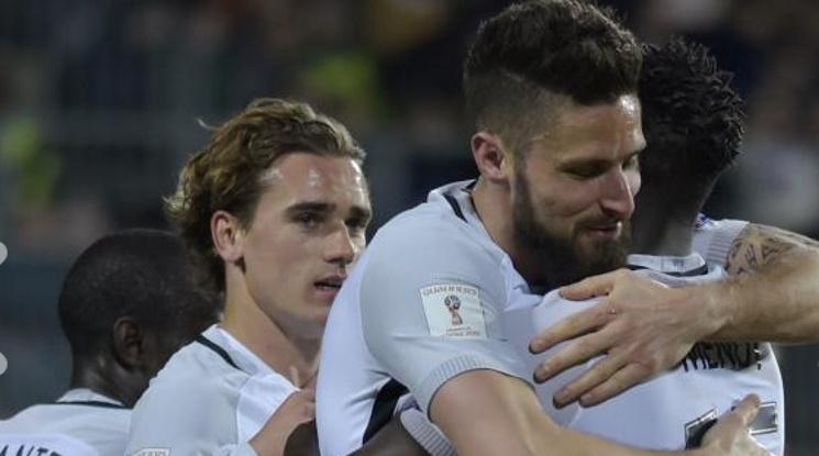 Франция остава едноличен лидер в групата след успех над Люксембург (видео)