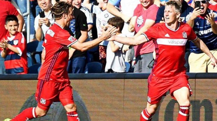 Швайнщайгер бележи нов гол с екипа на Чикаго Файър (видео)