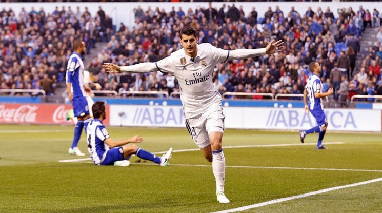 """Реал си го изкара на Депортиво, вкара половин дузина на """"Риасор"""" (видео)"""