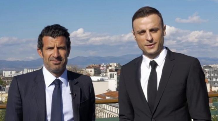 Бербатов и Фиго записаха клип в София (видео)