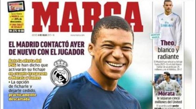 """""""Marca"""":  Мбапе в Реал Мадрид за 130 милиона евро"""
