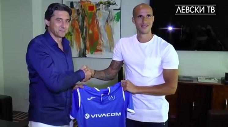 Първото интервю на Обертан като футболист на Левски (видео)