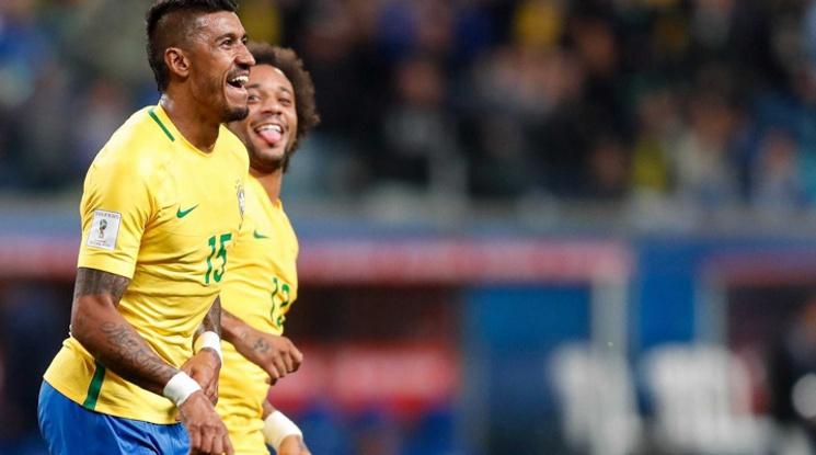 Бразилия си гарантира първото място в групата с победа над Еквадор (видео)