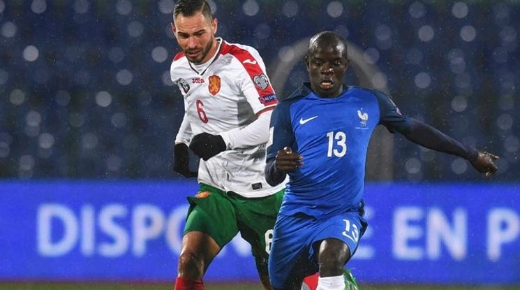 Канте пропуска 5 мача на Челси заради контузия от мача с България