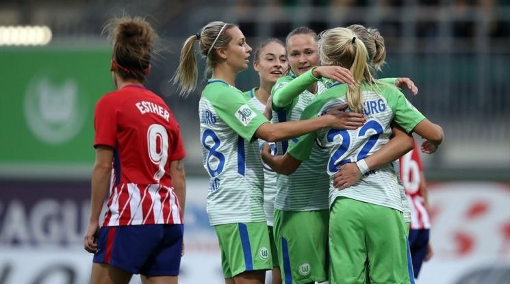Волфсбург разкъса Атлетико Мадрид в женската Шампионска лига