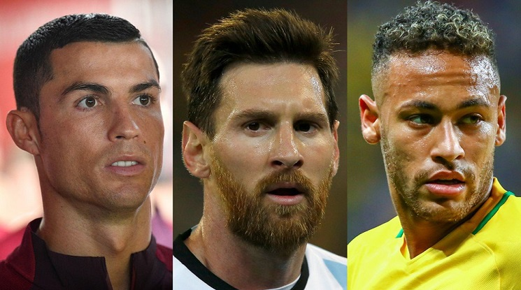 """Роналдо, Меси и Неймар се борят за """"Футболист на годината"""""""