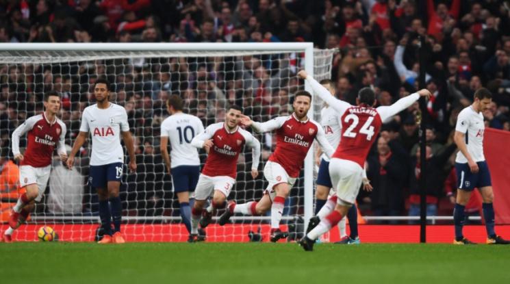 Арсенал удари Тотнъм в дербито на Лондон (видео)