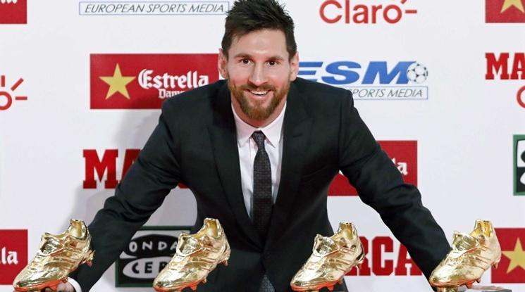Меси получи четвъртата си Златна обувка
