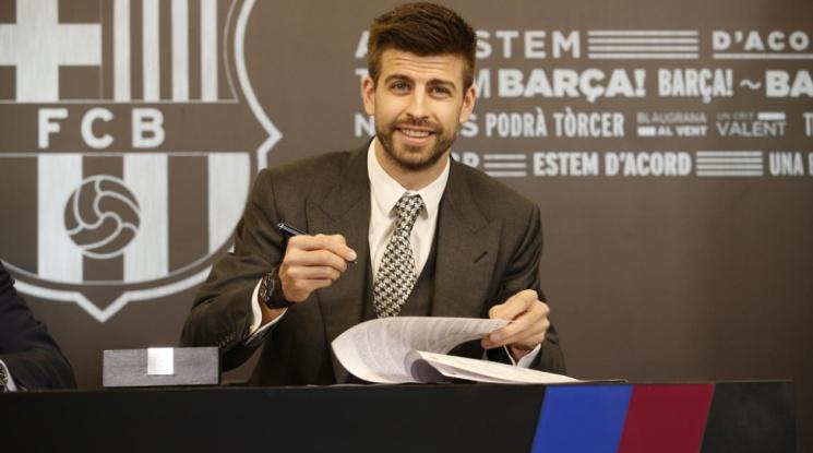 Официално: Пике преподписа с Барса, защитникът вече струва 500 млн. евро