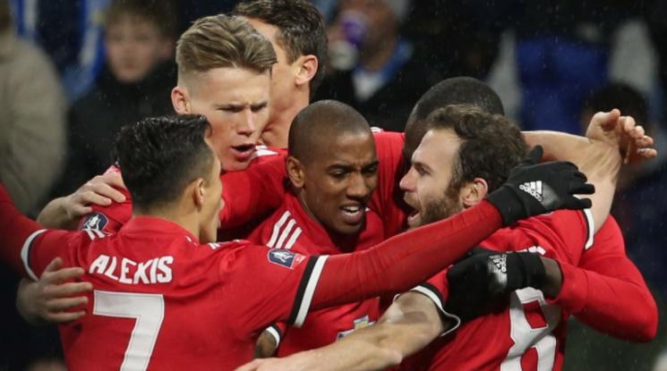 Лукаку класира Ман Юнайтед на 1/4-финалите на ФА Къп (видео)