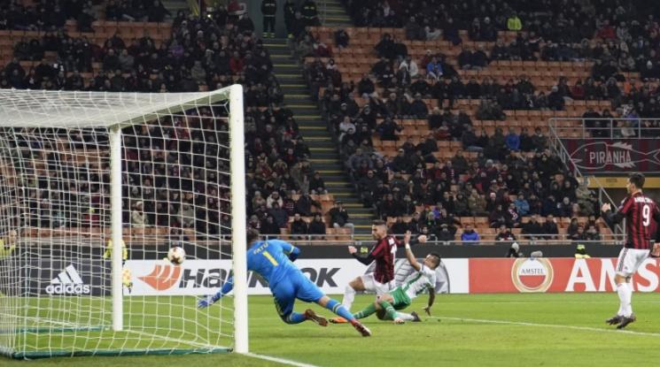 Лудогорец приключи участието си в евротурнирите след нова загуба от Милан (видео)