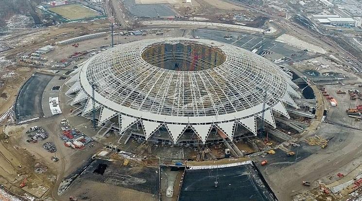 Изостава строежът на стадиона в Самара