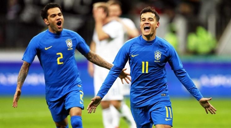Бразилия видя сметката на Русия с три гола за 13 минути (видео)
