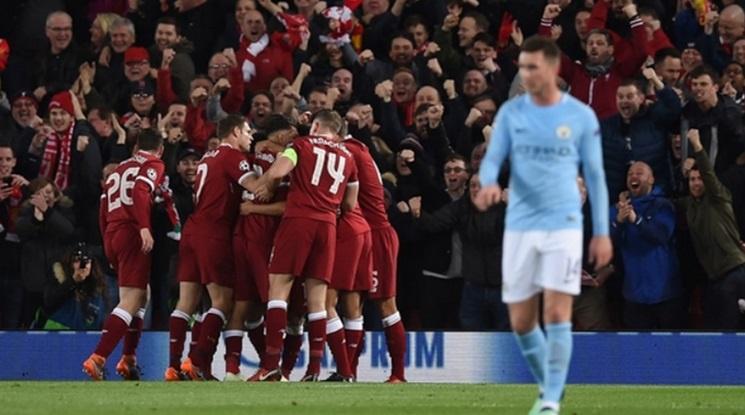 """Велика нощ за Ливърпул! """"Червените"""" сгазиха Манчестър Сити (видео)"""