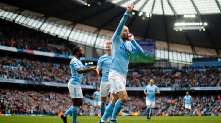 Ман Сити отпразнува титлата с пет гола във вратата на Суонзи (видео)
