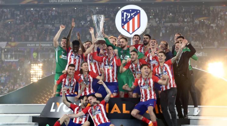 Атлетико Мадрид триумфира в Лига Европа след класика срещу Марсилия (видео)