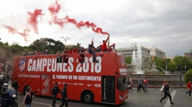 Атлетико отпразнува триумфа в Лига Европа с парад