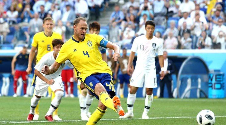 Швеция би Южна Корея след решителна намеса на ВАР технологията (видео)