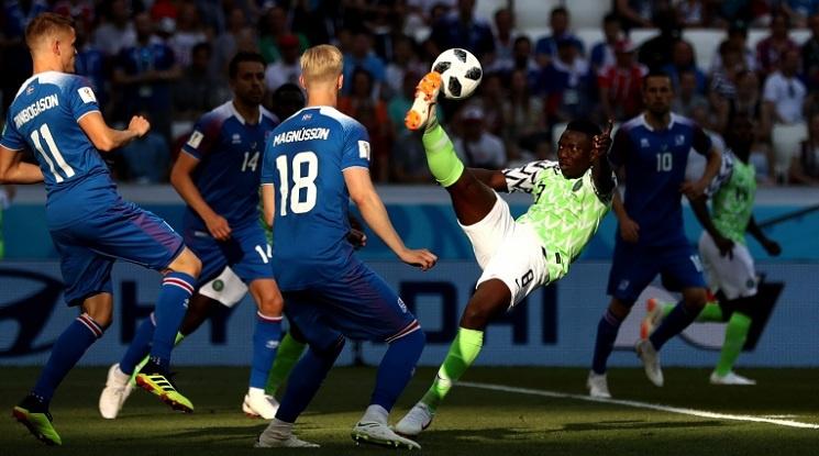 """Нигерия удари Исландия и завърза интригата в група """"D"""" (видео)"""