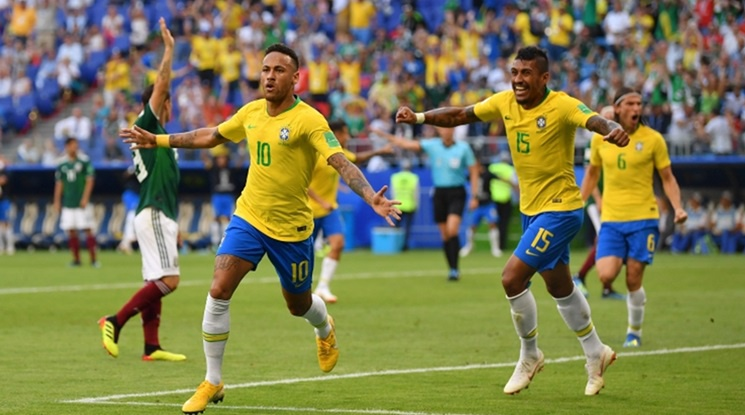 Бразилия ликува! Неймар и Фирмино повалиха Мексико! (видео)
