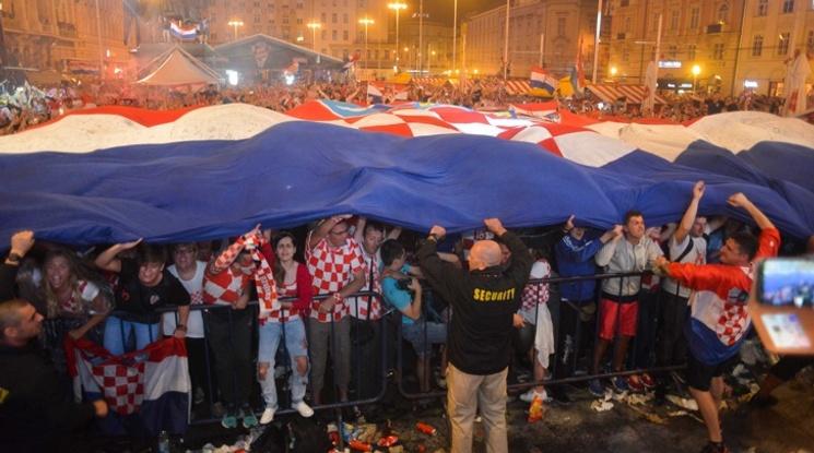 Хърватите празнуваха цяла нощ