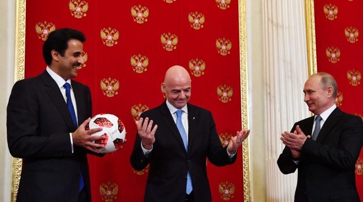 Путин предаде на катарците щафетата за следващия Мондиал