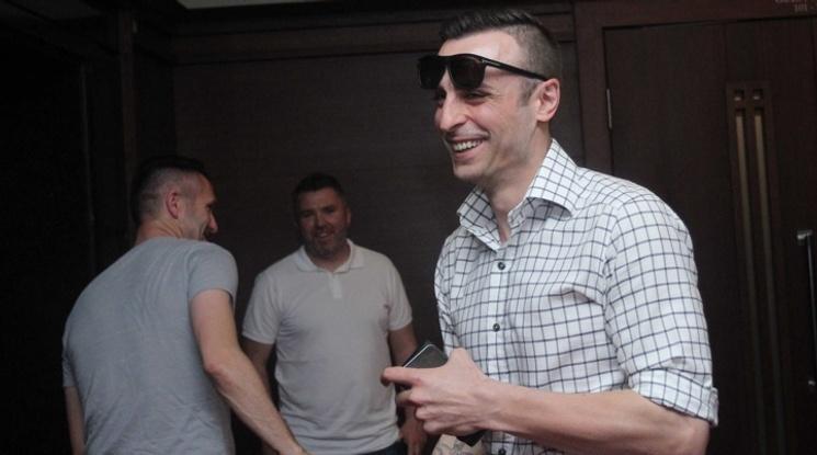 Бербатов и Левентис на картинг преди демонстративния мач
