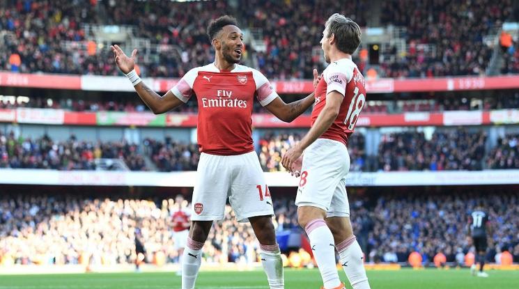 Арсенал записа четвърта поредна победа (видео)