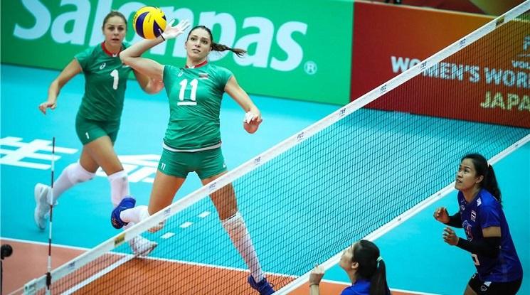 Волейболистките записаха трудна победа над Тайланд на Световното (видео)