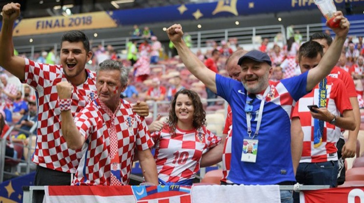 Без публика на Хърватия - Англия