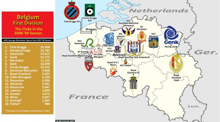 Обвинения за уредени мачове и пране на пари в Белгия