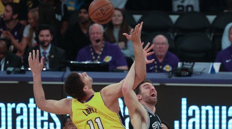Лейкърс загуби трети пореден мач в НБА