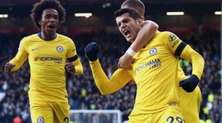 Челси скъса мрежата на Бърнли, Арсенал прекъсна победната серия (видео)