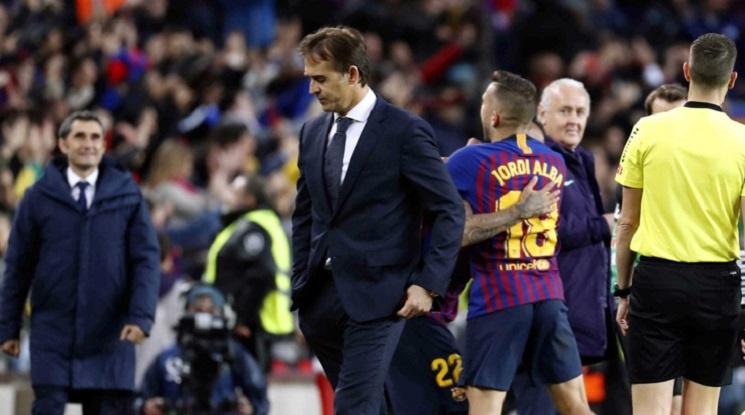 Лопетеги се сбогува с играчите на Реал Мадрид