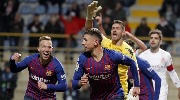 Барса се затрудни с третодивизионен отбор за Купата, Реал громи (видео)