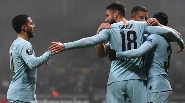 4 от 4 за Челси в Лига Европа (видео)