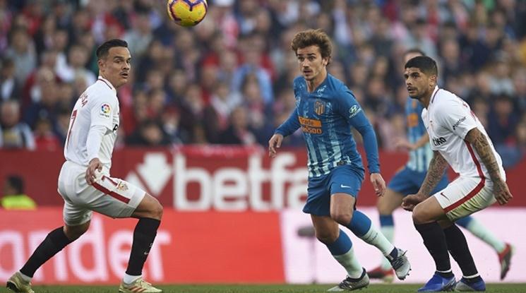 Севиля и Атлетико поделиха точките в напечено дерби (видео)