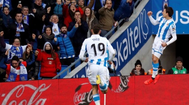 Реал Сосиедад се доближи до зона Европа след успех над Атлетик Билбао (видео)
