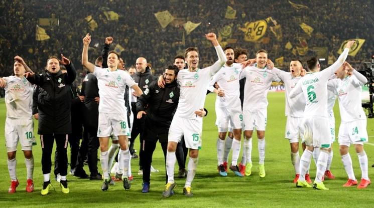 Вердер отстрани Дортмунд за Купата след драма с дузпи (видео)