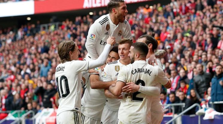 Реал плесна здраво Атлетико в мадридското дерби и излезе втори в Ла Лига (видео)