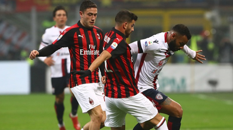 Милан лесно се справи с Каляри (видео)